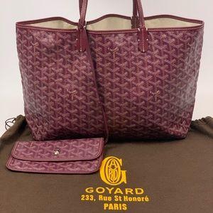 Authentic Goyard St Louis PM Bordeaux with pouch